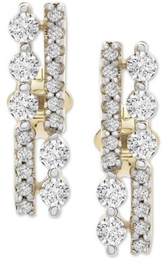 Wrapped Diamond Bar Stud Earrings (1/3 ct. t.w.) in 14k Gold, Created for Macy's