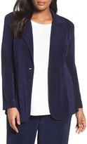 Vikki Vi One-Button Stretch Knit Blazer (Plus Size)