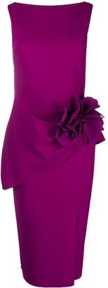 Le Petite Robe Di Chiara Boni 3d Floral Detail Fitted Dress