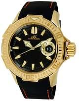 Adee Kaye Men's AK7753-M GRAND MOND - G2 COLLECTION Analog Display Japanese Quartz Black Watch
