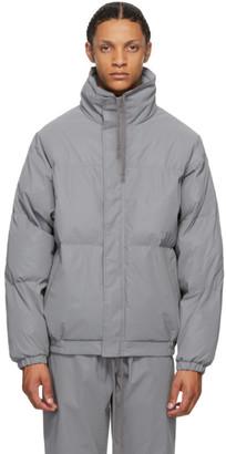 Essentials Grey Reflective Puffer Jacket