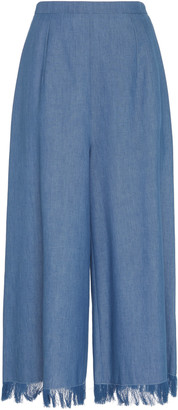 Andrew Gn Fringed Wide Leg Culottes