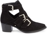 Steven by Steve Madden Cutout Suede Buckle Booties