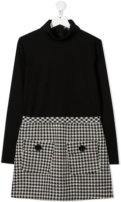 Emporio Armani Kids TEEN houndstooth-skirt dress