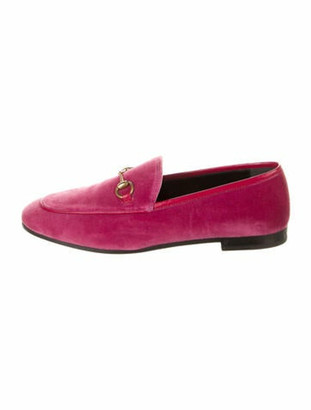 Gucci Jordaan Horsebit Accent Loafers w/ Tags Pink