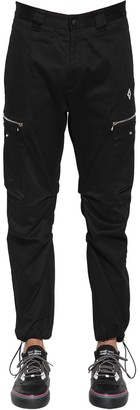 Marcelo Burlon County of Milan Cross Logo Cotton Canvas Cargo Pants