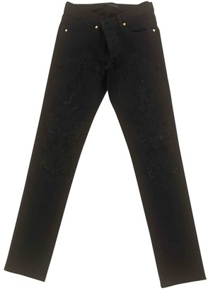 Juicy Couture Black Cotton Trousers for Women
