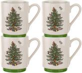 Spode S/4 Stacking Mugs, Christmas Tree