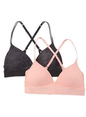Danskin Wire Free Brushed Bralette - Set of 2