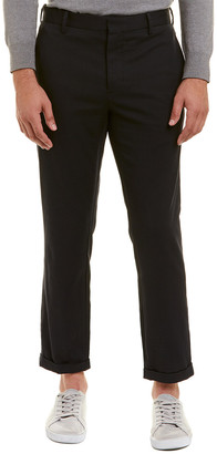 Vince Wool-Blend Patch Pocket Cropped Trouser
