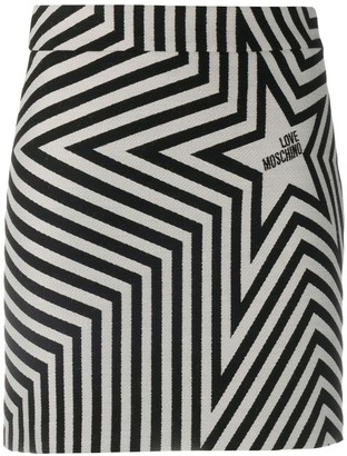 Love Moschino Star-Print Fitted Skirt