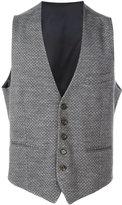 Eleventy textured waistcoat - men - Acrylic/Polyamide/Wool - 46