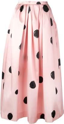 Christopher Kane full shape polka dot print skirt