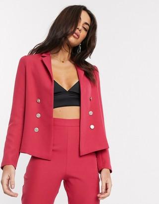 Vesper tailored suit blazer in pink