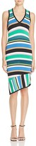 Laundry by Shelli Segal Striped Asymmetric Dress