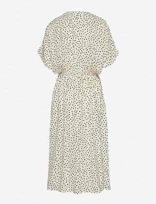 Samsoe & Samsoe Andina polka-dot woven midi dress