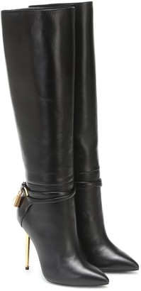 Tom Ford Embellished leather knee-high boots