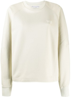 Y-3 Logo Crew-Neck Cotton Sweatshirt