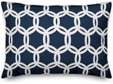 Designs Direct Creative Group Navy Lattice 14x20 Lumbar Pillow