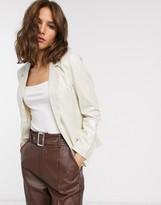 Vero Moda metallic suit jacket