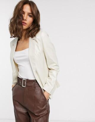 Vero Moda metallic suit jacket-Silver