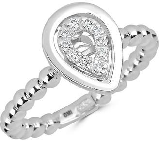 Saks Fifth Avenue 14K White Gold Diamond Pear Ring