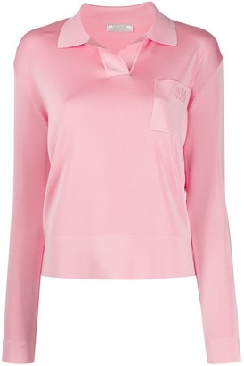 Nina Ricci Knitted Polo Top