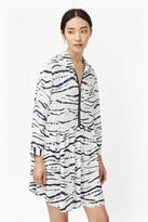 Tapir Wave Crepe Shirt Dress