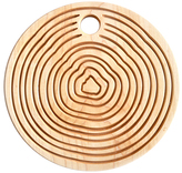 Maple Round Reversible Trivet/Cutting/Serving Board