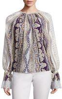 Etro Printed Silk-Blend Blouse