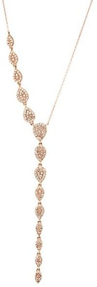 Nina Gilin 14K Rose Gold & Diamond Asymmetrical Y-Necklace