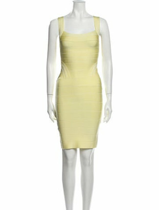 Herve Leger Josephine Mini Dress Yellow