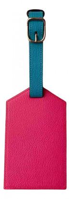 Hermes Pink Leather Bag charms