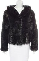 Chloé Hooded Fur Jacket