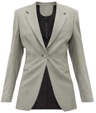 Petar Petrov Janis Houndstooth Single-breasted Wool Blazer - Grey Multi