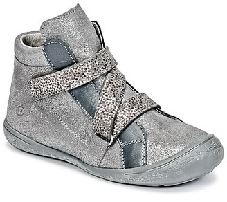 Citrouille et Compagnie HISSOU girls's Shoes (High-top Trainers) in Silver