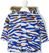 Kenzo tiger striped coat - kids - Cotton/Polyester - 18 mth