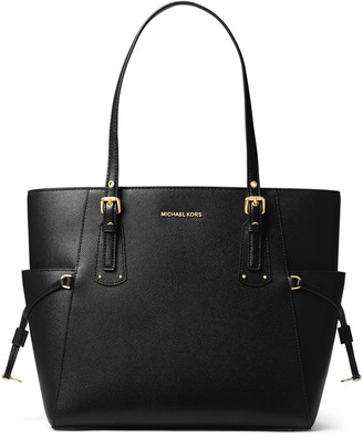 MICHAEL Michael Kors Voyager E/W Signature Saffiano Tote Bag - Golden Hardware