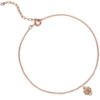 Lee Renee Ladybird Black Diamond Bracelet (Wings Open) Rose Gold