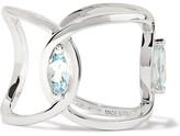 Delfina Delettrez 18-karat White Gold Aquamarine Ring - 6