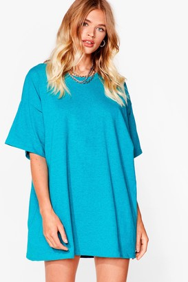 Nasty Gal Womens Easy Does It Tee Dress - Jade