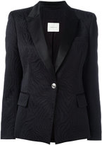 Pierre Balmain one button blazer - women - Cotton/Polyester/Rayon/Satin - 38