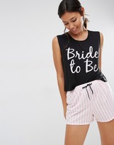 Boohoo Bride To Be Pajama Set
