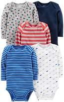 Simple Joys by Carter's Boys' 5-Pack Long-Sleeve Bodysuit