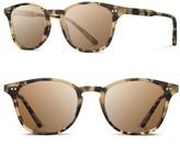 Shwood Men's Kennedy 50Mm Polarized Sunglasses - Matte Havana / Brown