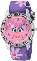 EWatchFactory Girl's 'Sesame Street' Quartz Plastic and Nylon Automatic Watch, Color:Purple (Model: W003158)