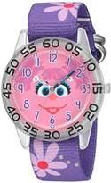 EWatchFactory Girl's 'Sesame Street' Quartz Plastic and Nylon Watch, Color:Purple (Model: W003158)