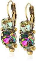 """Sorrelli Crystal Patina"""" Ornate Crystal Rounds French Wire Drop Earrings"""
