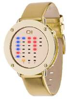 01 The One 01TheOne Women's IRR315RB1 Ibiza Ride Round Gold Leather Watch