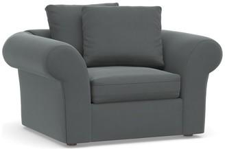 Pottery Barn PB Air Roll Arm Upholstered Armchair